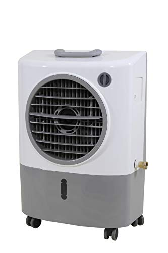 Hessaire MC18M Portable Evaporative Cooler – Gray, 1300 CFM, Cools 500 Square Feet