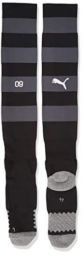 PUMA Herren Team BVB Hooped Socks Stutzen, Ebony Black, 4