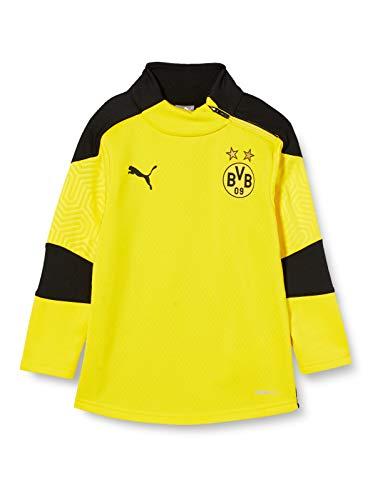 PUMA Uni Pullover BVB Training Fleece Jr, Cyber Yellow-Puma Black, 110, 757711