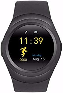 Smart Watch Silicone Band For Android & iOS,Black - T0478
