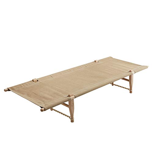 Nordisk Holz Feldbett Marselis Outdoor Bett XL Camping Liege Baumwolle 200x80 cm