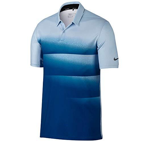 Nike Dry Fit Engineered OLC Golf Polo 2017, S, Azul hidrógeno, Azul Jay/Negro