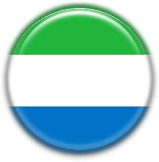 Sierra Leone : National Flag, Pinback Button Badge 1.50 Inch (38mm)