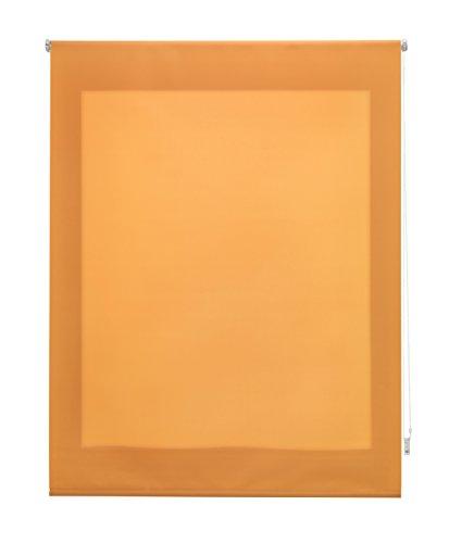 Uniestor Estor Enrollable Liso Traslúcido Tela Naranja 100x175 cm