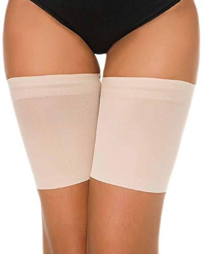 Tuopuda Bande de Cuisse Anti Frottement Protege Bandes de Cuisses Femme, Beige 1 Paire, A:53-57cm
