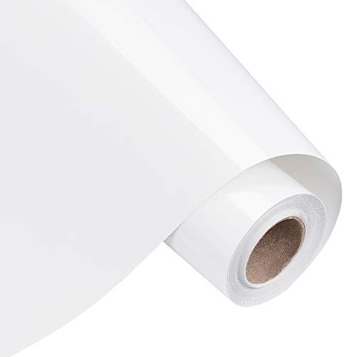 BENECREAT 5mx30cm Rollo de Vinilo de Transferencia de Calor Blanco Papel de Transferencia para Camisetas Ropa Sombreros Bolsos y la Mayoría de Las Superficies Textiles