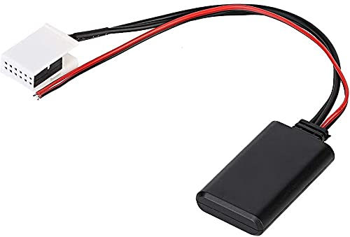 Qiilu Modulo AUX Bluetooth per auto , adattatore AUX Bluetooth per veicolo a 12 pin 12 V per auto adatto per MCD RNS 510 RCD 200 210 300 310 500 510