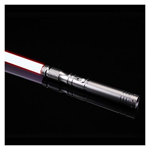 YouPI 100% nuovo RGB L.E.D spada laser, Force FX Heavy Dueling, ricaricabile spada laser, suono forte ad alta luce con FOC, Metal Hilt, Blaster, regali per bambini (colore : Gun Hilt RGB)