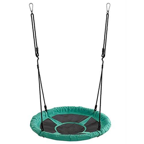 NMDD Actividades de Columpio Redondo para niños de 95 cm Asiento Seguridad Diversión Cordón Fácil instalación