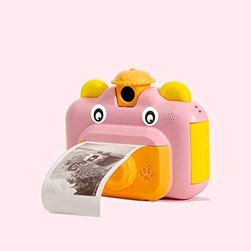 ZHBH La cámara Digital para niños Puede Tomar Fotos e imprimible de Alta definición para Estudiantes Polaroid Small SLR Toy Girl Day Gift (Color: A)