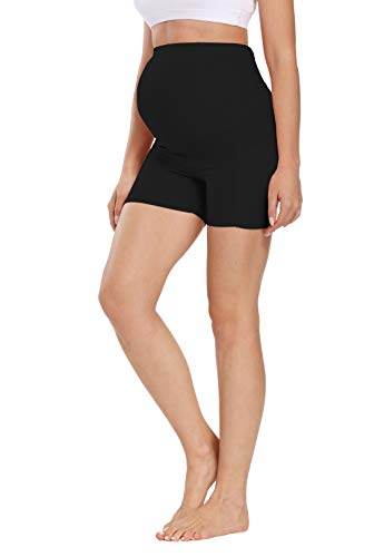Product Image of the Foucome Women's Maternity Yoga Short Over Bump Workout Running Athletic Pants...