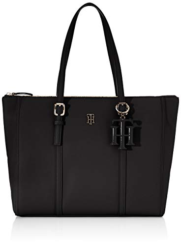 Tommy Hilfiger Damen Th Chic Tote, Schwarz (Black), 1x1x1 cm