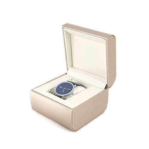 Z-SEAT Watch Box Organizer Kissenbezug, 1 Slot Leder Premium Vitrinen, Elegante Kontrastnähte Robust für Männer und Frauen Uhren- und Schmuck-Großhalterboxen