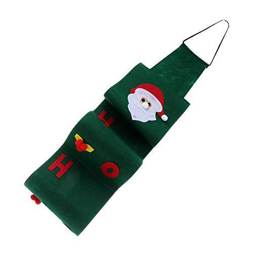 VALICLUD 2 Stück Wandbehang Tissue Roll Papierhalter Weihnachten Gesicht Taschentuch Box Abdeckung über Der Tür Schrank Veranstalter für Schlafzimmer Badezimmer Grün