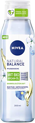 NIVEA Dusche Natural Balance Baumwollblüten Duft Bio Argan-Öl, 300 ml