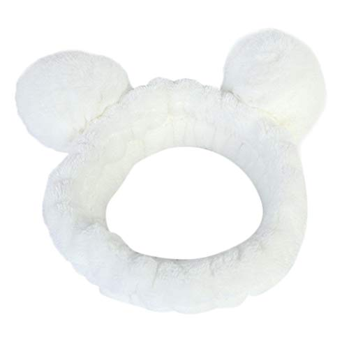 Femmes fluffy élastique bande de cheveux oreille panda jolie tête belle bande de cheveux-Bandeau Cheveux - Nœud à deux boucles – Maquiller – Débarbouillage – Salle de Bain - Faire du sport