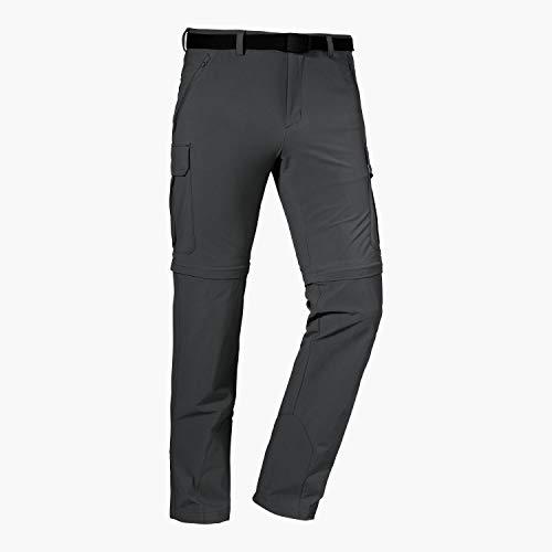 Schöffel Herren Pants Kyoto3 Zip off Trekkinghose aus k hlendem 4 Wege Stretchmaterial funktionale Wanderhose mit UV Schutz, Asphalt, 48 EU