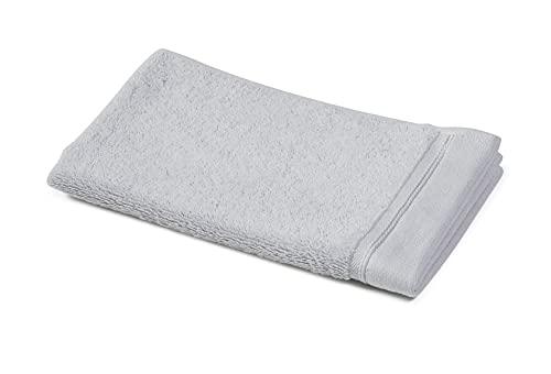 Sowel® Asciugamano Ospite 30 x 50 cm, 100% Cotone Biologico, Prodotto in Portogallo, Grigio Chiaro