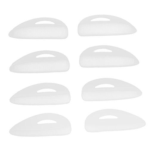 perfeclan 4 Paires de Cils en Silicone Souple Cils de Bigoudis Cils Extensions de Boucliers Protection Des Cils Permanent pour faux cils Doux Blanche