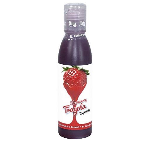 Halta Mini Topping Fragola sauce Erdbeere 200 g für Desserts, Kuchen, Eis