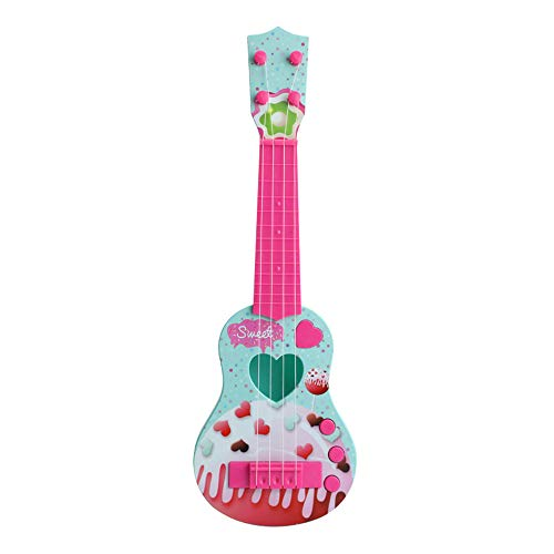 WXX Guitarra Eléctrica para Niños, Simulación Linda Guitarra De 4 Cuerdas, Instrumento...