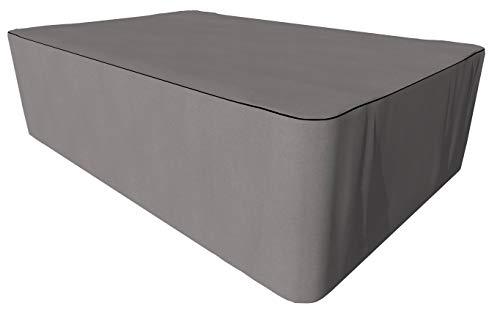 SORARA Housse de Protection Hydrofuge pour Table Rectangulaire | Gris | 325 x 208 x 90 cm