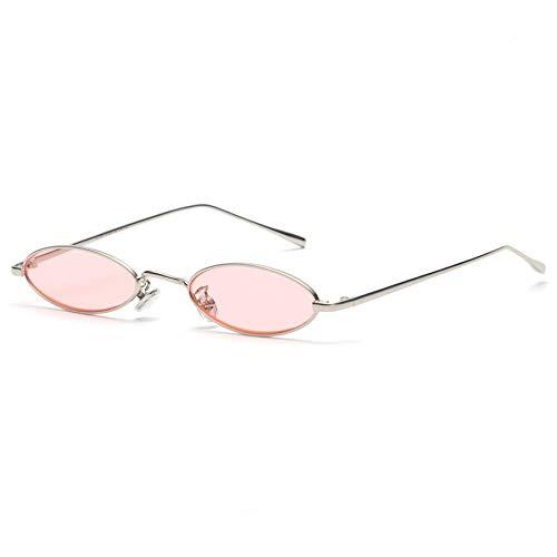 Sunglasses Gafas De Sol Ovaladas Pequeñas para Mujeres, Hombres, Hombres, Retro, Marco De Metal, Amarillo, Rojo, Lente, Gafas De Sol Redondas Vintage, GafasUv400 C13