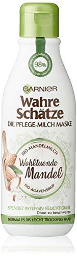 Garnier Wahre Schätze Pflege-Milch Maske Wohltuende Mandel, 1er Pack (1 x 250 ml)