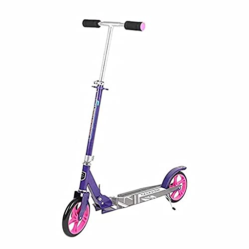 WZWHJ Beau Scooter Pliable, Scooter Freestyle, Scooter Portable réglable Pliable, Cadeau d'anniversaire pour Dames/Hommes, Maximum de 120 kg, Non électrique