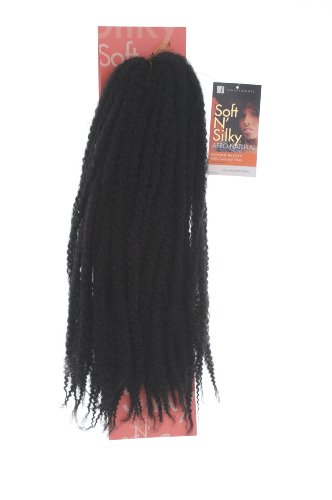 Sensationnel Afro Twist Braid. Colour 2: Black. Soft and Silky Afro Natural