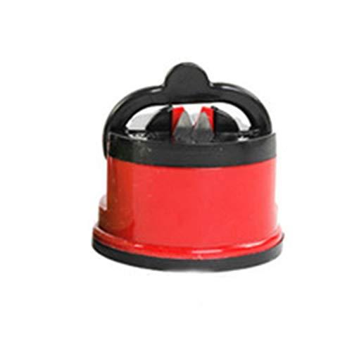 FOY Afilador de cuchillos tijeras amoladora aspiración segura herramienta para afilar la cocina del chef rojo
