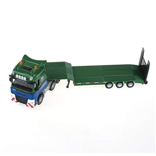 LINGLING-JOUETS Enfants Jouets en Alliage Foins Remorque Plateau Amovible Transporter Toy Boy en Alliage Foins Amovible à Plat Transporter remorque (Color : Green)
