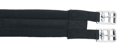 Kerbl Sattelgurt, Gepolstert, Rollenschnallen, Baumwollgurt, Schwarz 100-140cm