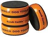 Bench Cookie 10-035 - Soportes aderentes, estilo galleta, paquete de 4