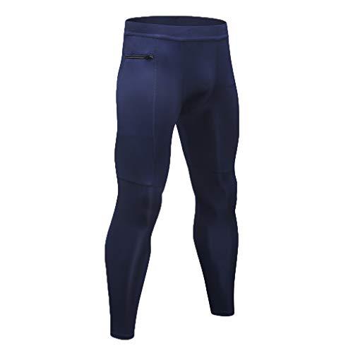beautyjourney Pantalones funcionales Largos Deportivos para Hombre Pantalones de Yoga de Fitness de compresión Transpirable Pantalones para Correr Leggings Calzoncillos Largos y Flacos