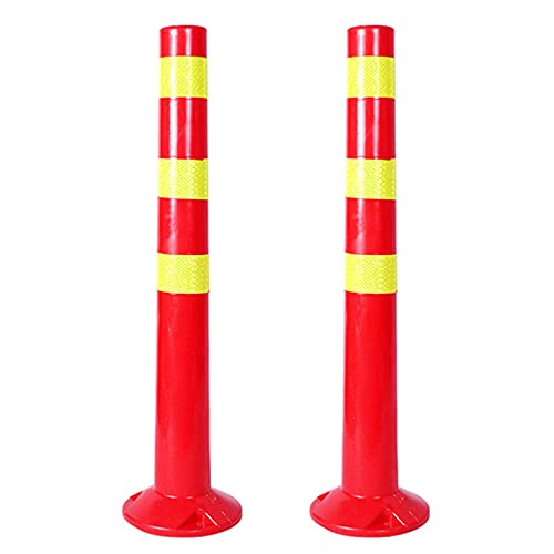 プラスチック製パーキングコーン2パック、トラフィックコーンパーキングなし、商用または私用のパーキングポスト、ガレージパーキングアシスト(サイズ:730× 70mm)