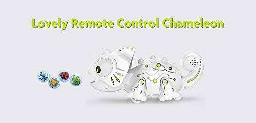 Amyove Intelligentes Chamäleon Roboter Spielzeug, Ferngesteuertes Chamäleon Haustier Intelligenter Spielzeug Elektronisches Spielzeug für Kinder