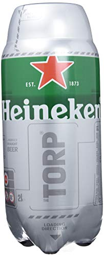 Heineken Beer - Box of 5 Torps x 2L - Total: 10 L
