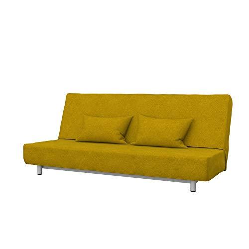 Soferia Funda de Repuesto para IKEA BEDDINGE sofá Cama de 3 plazas, Tela Strong Dark Yellow, Amarillo