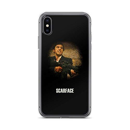 hejatsz Compatibile con iPhone 6/6s Custodia Scarface Movies Video Film Pure Clear Custodie per Telefono impedire Scivolare Via Protezione Cover