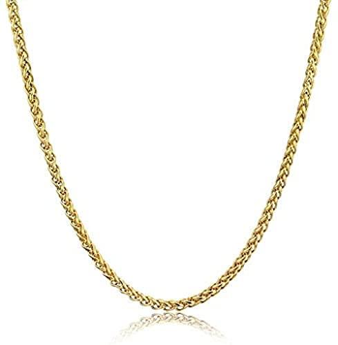 NC190 Cadenas de Oro Hiphop para Hombres, joyería Vintage, Venta al por Mayor, Collar de Cadena de Cuerda de Color Dorado Largo de 6 mm, Cadena de Acero Inoxidable KPOP, 60 cm