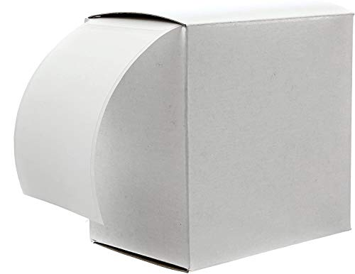 """2"""" x 3"""" White Rectangle Color Code Labels/Permanent Adhesive/Write On Labels - 250 Labels with Dispenser Box"""
