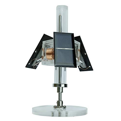 Poxl Mendocino Solar Motor, 3-seitige Magnetische Levitating Motor Bausatz Solar Engine Modell Physik Lernspielzeug