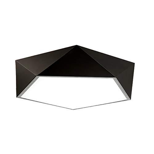Moderne kurze schwarze geführte Deckenleuchte, Schlafzimmer-Deckenleuchte-Acrylspüldecken-Decken-hängende Lampen-Befestigung für Wohnzimmer Esszimmer, weißes Licht 24W, 36W (Size : 42CM)