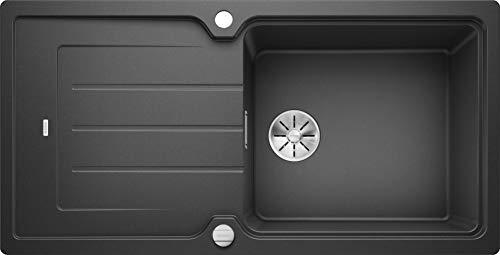 Blanco Classic Neo XL 6 S, Küchenspüle mit XL-Becken, aus Silgranit PuraDur, reversibel, Anthrazit-schwarz / mit InFino-Ablaufsystem, inklusive Ablauffernbedienung; 524127