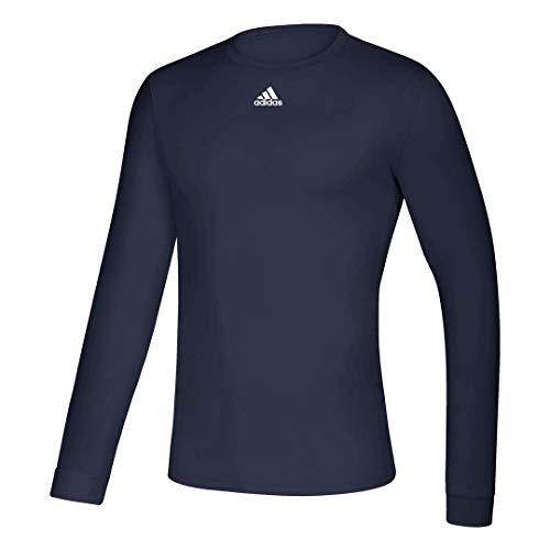 adidas Climalite Creator EK012 - Camiseta de manga larga - EK0124, S, Azul marino Collegiate