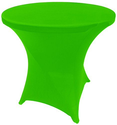 Goldstream Point Lime Green 32 Inch Round x 30 Inch Tall Spandex Cocktail Tablecloth Folding Cover Stretch