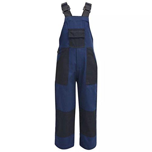 vidaXL Kinder Arbeitslatzhose Größe 110/116 Blau