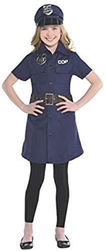amscan 846575-55 846575 - Disfraz de policía para Mujer, tamaño Infantil, 1 Unidad, Azul, 25 1/2 Pulgadas