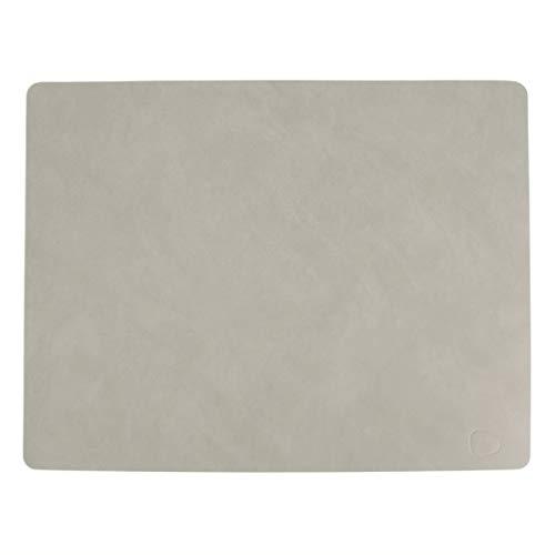LindDNA Tischset in der Farbe hellgrau, viereckig, Größe L / Large,, Lederoberflächen und Größen, Leder, 981170